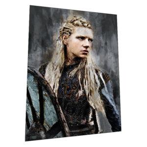 "Vikings ""Lagertha the Shieldmaiden"" Wall Art – Graphic Art Poster"