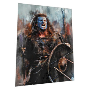 "Braveheart and William Wallace ""Battle Cry"" Wall Art – Graphic Art Poster"